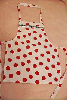 Iné oblečenie - bavlnená zásterka pre malú kuchárku - 9993619_