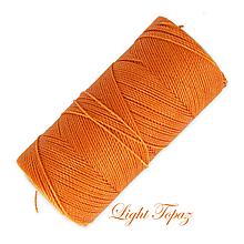 Galantéria - Linhasita voskovaná šnúrka na micro macramé, 1mm, bal.1klbko (168m), farebná škála č.1 (Light Topaz) - 9993380_