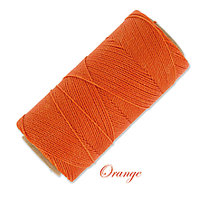 Galantéria - Linhasita voskovaná šnúrka na micro macramé, 1mm, bal.1klbko (168m), farebná škála č.1 (Orange) - 9993864_