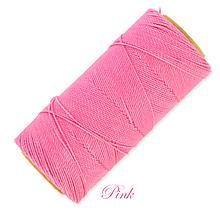 Galantéria - Linhasita voskovaná šnúrka na micro macramé, 1mm, bal.1klbko (168m), farebná škála č.1 (Pink) - 9993967_