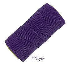 Galantéria - Linhasita voskovaná šnúrka na micro macramé, 1mm, bal.1klbko (168m), farebná škála č.1 (Purple) - 9993977_