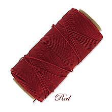 Galantéria - Linhasita voskovaná šnúrka na micro macramé, 1mm, bal.1klbko (168m), farebná škála č.1 (Red) - 9994002_
