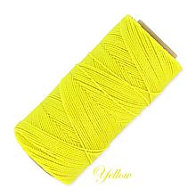 Galantéria - Linhasita voskovaná šnúrka na micro macramé, 1mm, bal.1klbko (168m), farebná škála č.1 (Yellow) - 9994048_