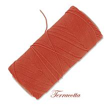 Galantéria - Linhasita voskovaná šnúrka na micro macramé, 1mm, bal.1klbko (168m), farebná škála č.1 (Terracotta) - 9994088_