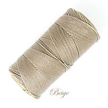 Galantéria - Linhasita voskovaná šnúrka na micro macramé, 1mm, bal.1klbko (168m), farebná škála č.3 (Beige) - 9994446_