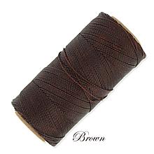 Galantéria - Linhasita voskovaná šnúrka na micro macramé, 1mm, bal.1klbko (168m), farebná škála č.3 (Brown) - 9994457_