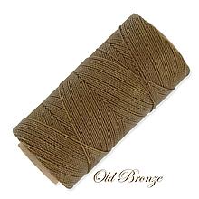 Galantéria - Linhasita voskovaná šnúrka na micro macramé, 1mm, bal.1klbko (168m), farebná škála č.3 (Old Bronze) - 9994532_