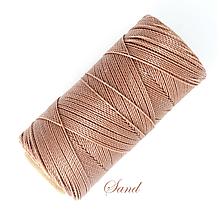 Galantéria - Linhasita voskovaná šnúrka na micro macramé, 1mm, bal.1klbko (168m), farebná škála č.3 (Sand) - 9994543_