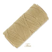 Galantéria - Linhasita voskovaná šnúrka na micro macramé, 1mm, bal.1klbko (168m), farebná škála č.3 (Tan) - 9994549_