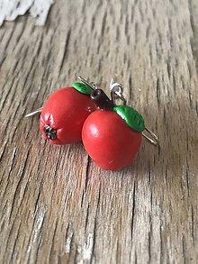 Náušnice - jabĺčka (náušnice) - 9996124_