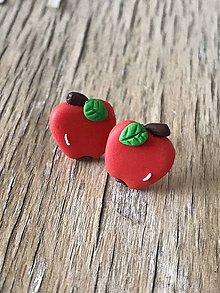 Náušnice - jabĺčka (napichovačky) - 9996145_