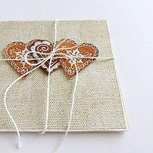 Papiernictvo - Vianočná pohľadnica, medovníčky - 9998308_