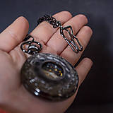 Iné - Mechanické vreckové hodinky s krúžkovanou reťazou (40) - 9999408_