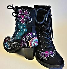 Obuv - maľované topánky ... lízanková princezná Ela ♥ - 10000316_