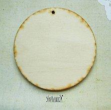 Polotovary - Výrez z preglejky - Vianoce, kruh, 9 cm - 9998372_
