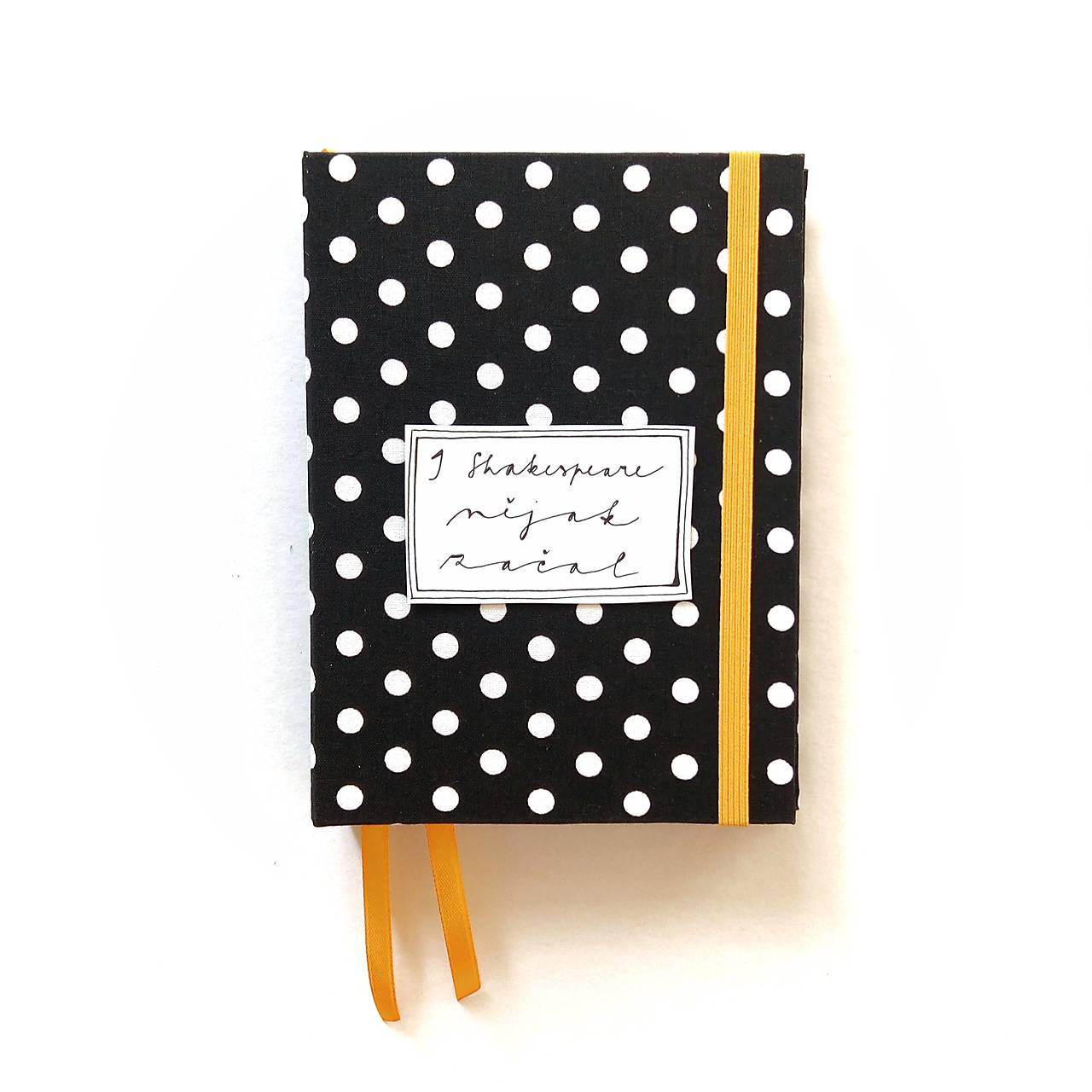 Papiernictvo - DIÁR 2019 čierno-žltý bodkáč (ľubovoľný nápis do konca novembra) - 9998612_