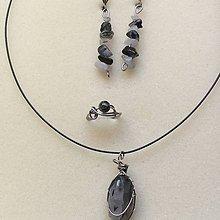Sady šperkov - sada šperkov s krištáľom s turmalínom - 9998368_