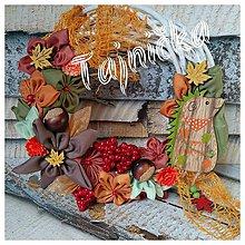 Dekorácie - Jesenný venček s ježkom - 9999927_
