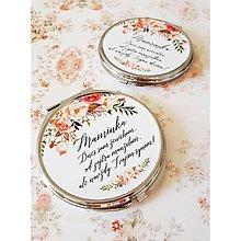 Darčeky pre svadobčanov - Svadobné zrkadielko - 9998987_