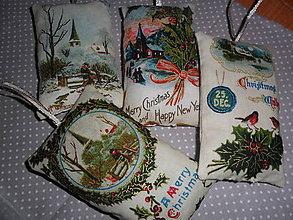 Dekorácie - Vianočné ozdoby textilné. - 9997683_