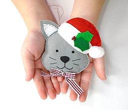 Dekorácie - Rozprávkové Vianoce (Mačička) - 9997804_