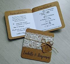 Papiernictvo - Svadobné oznámenie LÁSKA - 9997784_