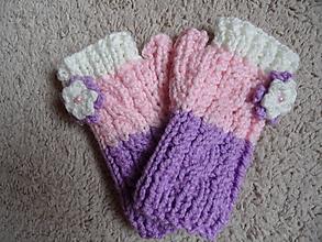 Rukavice - detské bezprstové rukavičky - 9999492_