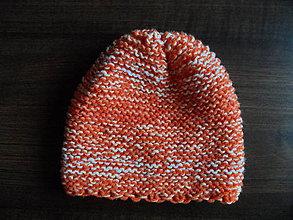 Čiapky - pomarančová pružná čiapka - 9999553_