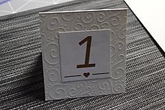 Čísla na svadobný stôl