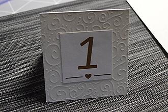 Papiernictvo - Čísla na svadobný stôl - 10000265_