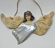 - keramický anjel - na stenu - 9999947_