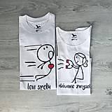 Tričká - Len spolu dávame zmysel (magnet) - set tričiek pre pár - 10000341_