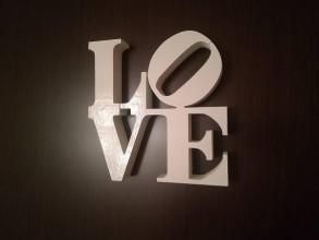 Dekorácie - 3D Nápis: Love (Ružová) - 10000016_