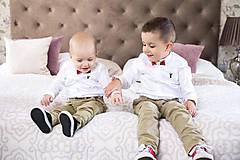 Detské doplnky - Dreveno-živicový set pre deti 2ks motýlikov Chenya na mieru - 9998414_