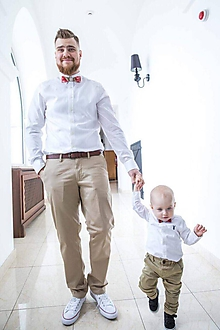 Detské doplnky - Dreveno-živicový set otec a syn Chenya na mieru - 9998496_