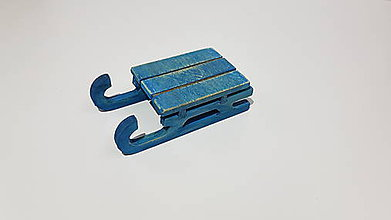 Dekorácie - Malé sánky  (Modrá) - 9999671_