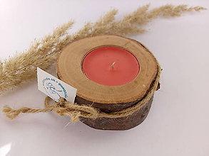 Svietidlá a sviečky - Malý svietnik na čajovú sviečku DREVO - 10000388_