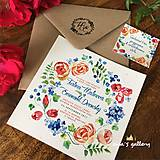 Papiernictvo - Svadobné oznámenie ~Natural Folklor Kocka~ - 9998788_
