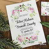 Papiernictvo - Svadobné oznámenie ~Natural Flower~ - 9998805_