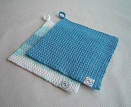 Úžitkový textil - Žinka - Chňapka   (Modrá) - 10000697_