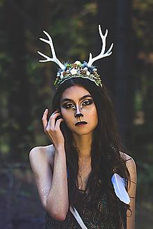 Ozdoby do vlasov - Prírodná čelenka s parožkami Halloween - 9997521_