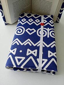 Papiernictvo - Obal čičmany (na modrej) - 9998811_