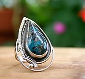 Prstene - Extravagantný nastaviteľný prsteň so shatuckitom - 9998950_