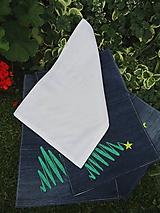 Úžitkový textil - Vianočné prestieranie z recyklovanej džínsoviny - 9999122_