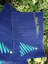Úžitkový textil - Vianočné prestieranie z recyklovanej džínsoviny - 9999133_