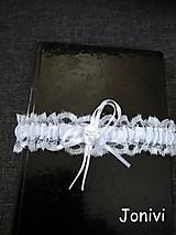 Bielizeň/Plavky - Svadobný podväzok - biely - 10000317_