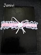 Bielizeň/Plavky - Svadobný podväzok - ružový - 10000403_