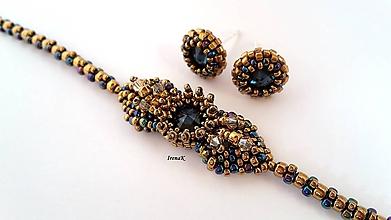 Sady šperkov - Wings miniset (modrá-bronz) - 9998577_