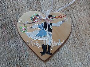 Darčeky pre svadobčanov - krojovaný svadobný pár - 9997936_