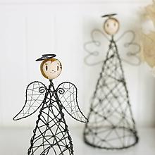 Dekorácie - anjelka- svietnik - 10002597_
